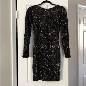Long sleeve sequin dress (dress the population)